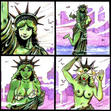 of justice kissing statue lady liberty Lord of the rings