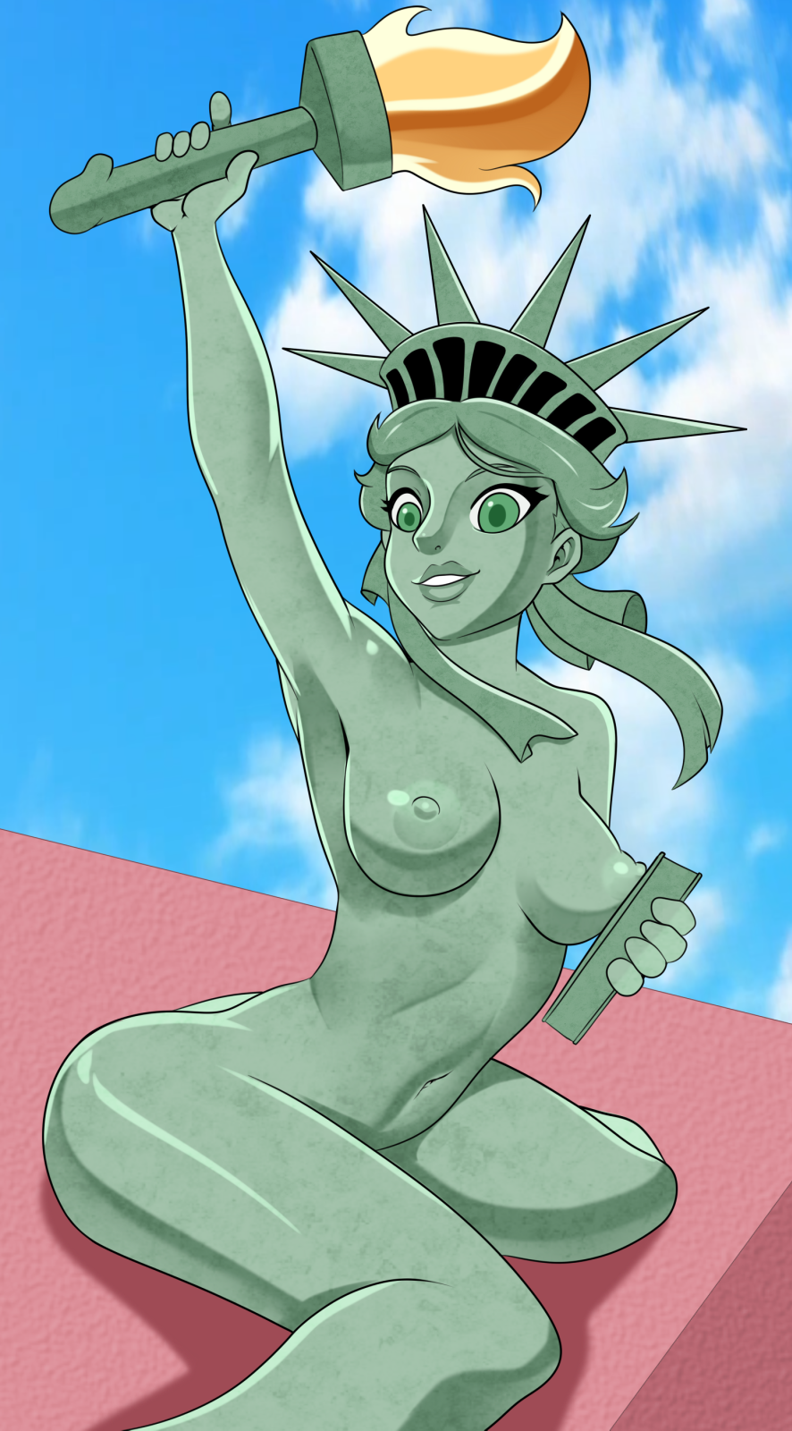 of statue justice liberty kissing lady Warhammer lady of the lake