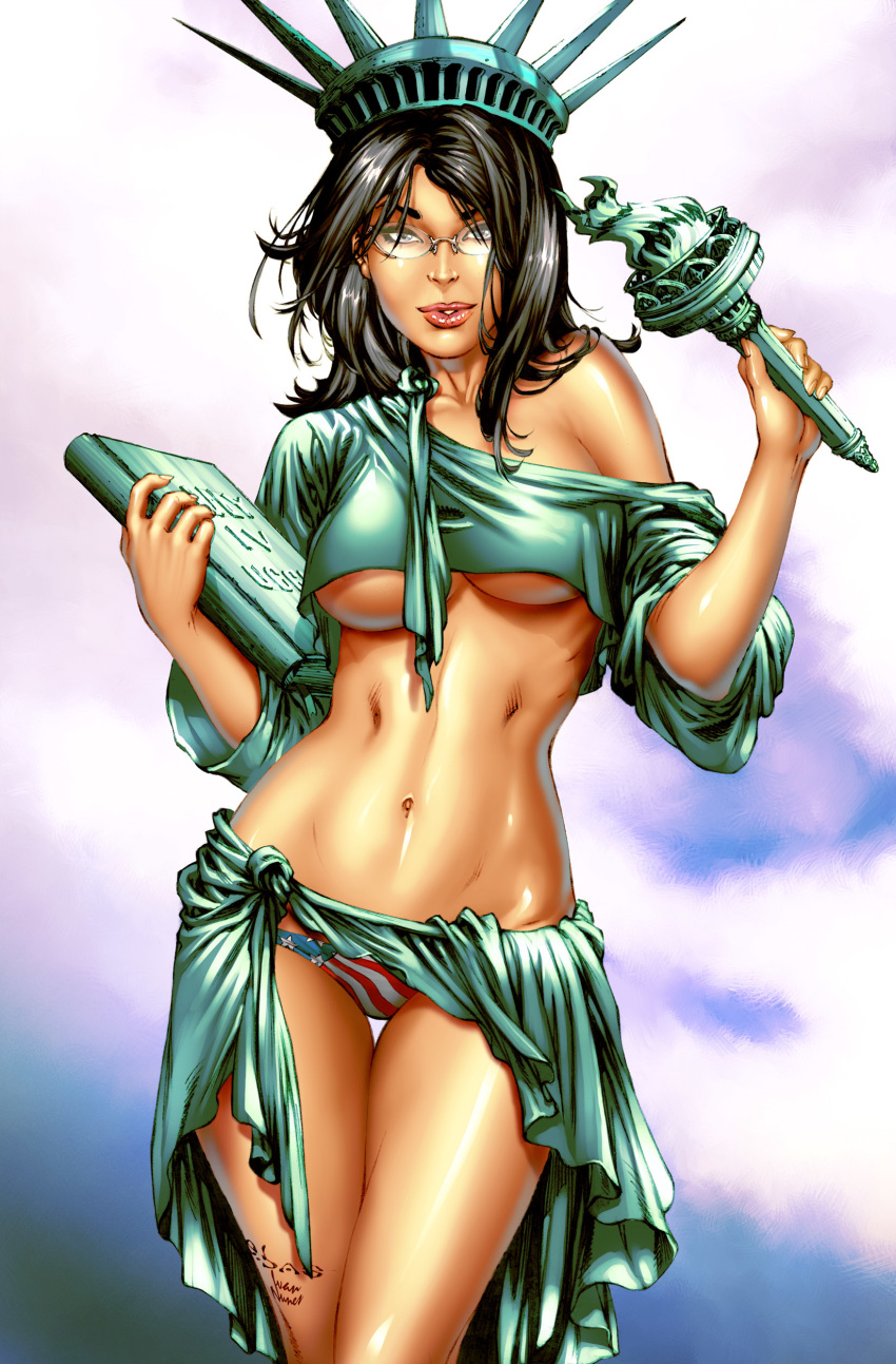 of statue justice lady liberty kissing Hentai tentacle breast expansion gif